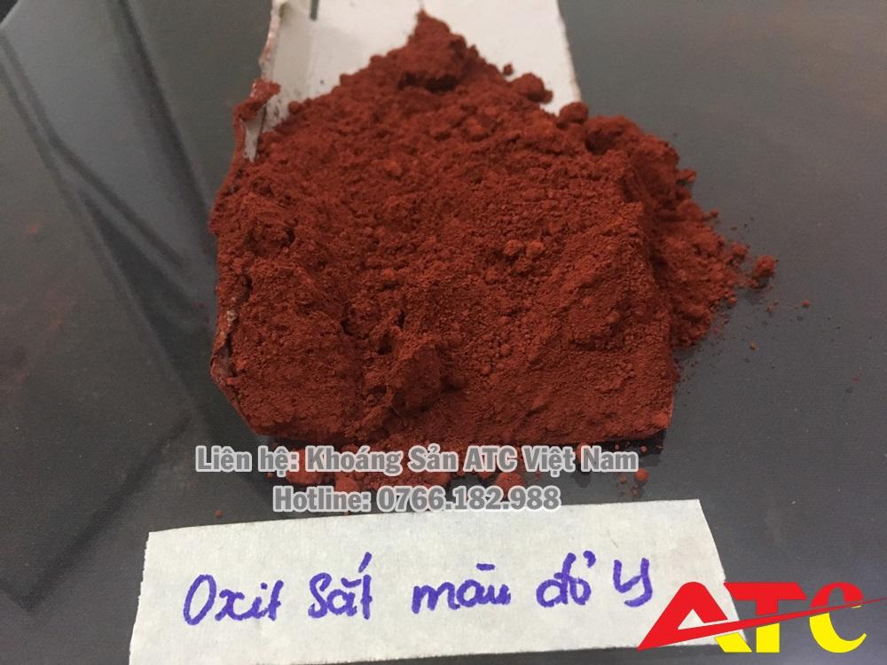 bột oxit sắt đỏ sản xuất gạch