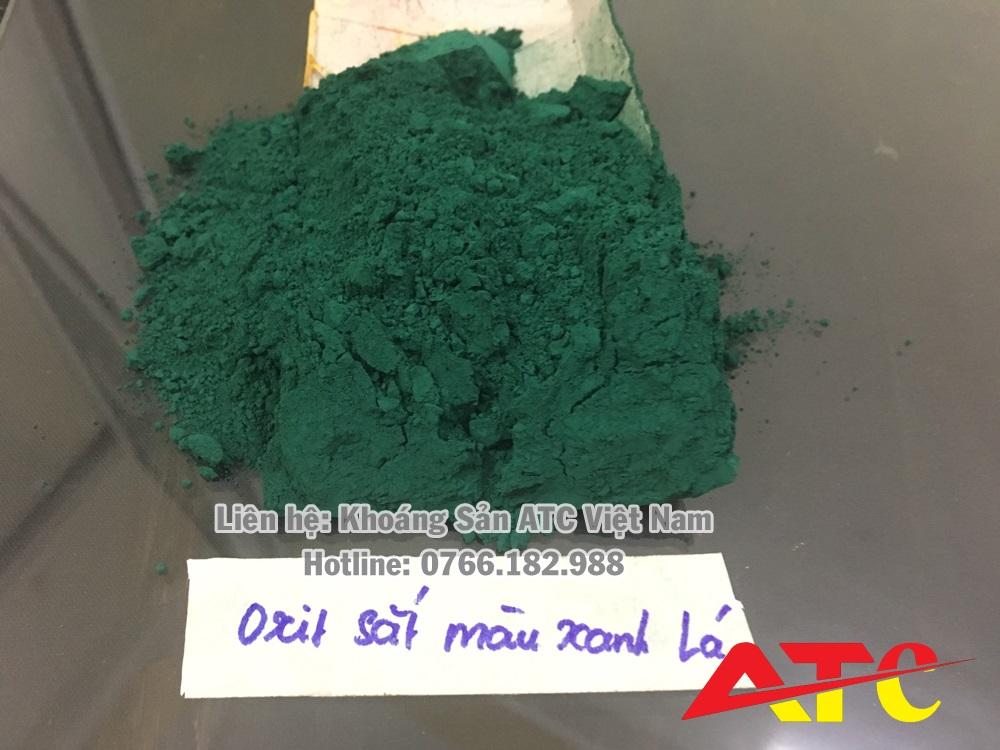 bột oxit sắt màu xanh