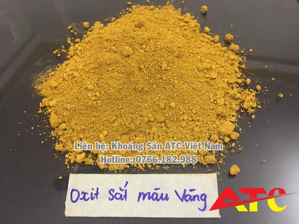 bột oxit sắt màu vàng