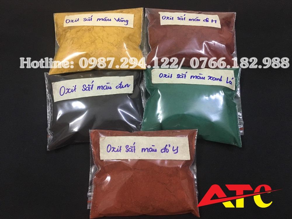bán bột màu oxit sắt làm gạch