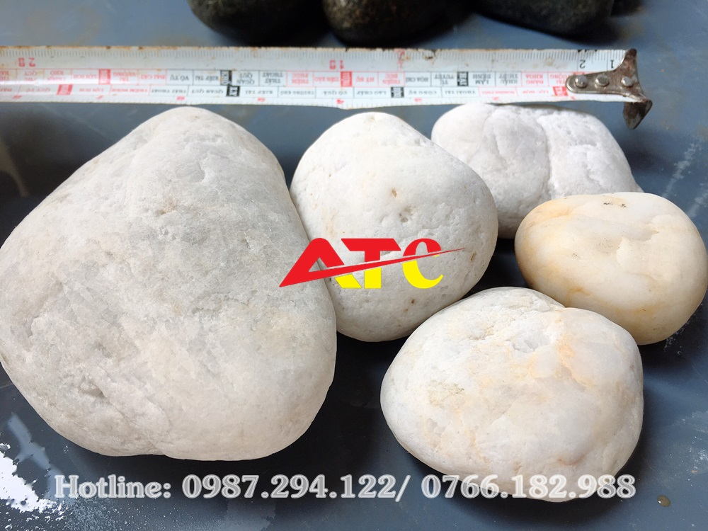 đá cuội trắng tự nhiên