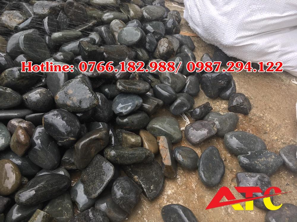 đá sỏi cuội đen tự nhiên