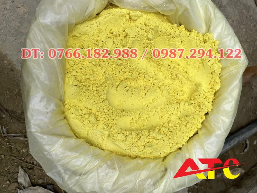 bột oxit sắt màu vàng chanh