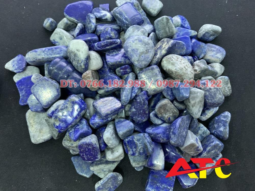 Đá vụn Lapis lazuli mài bóng