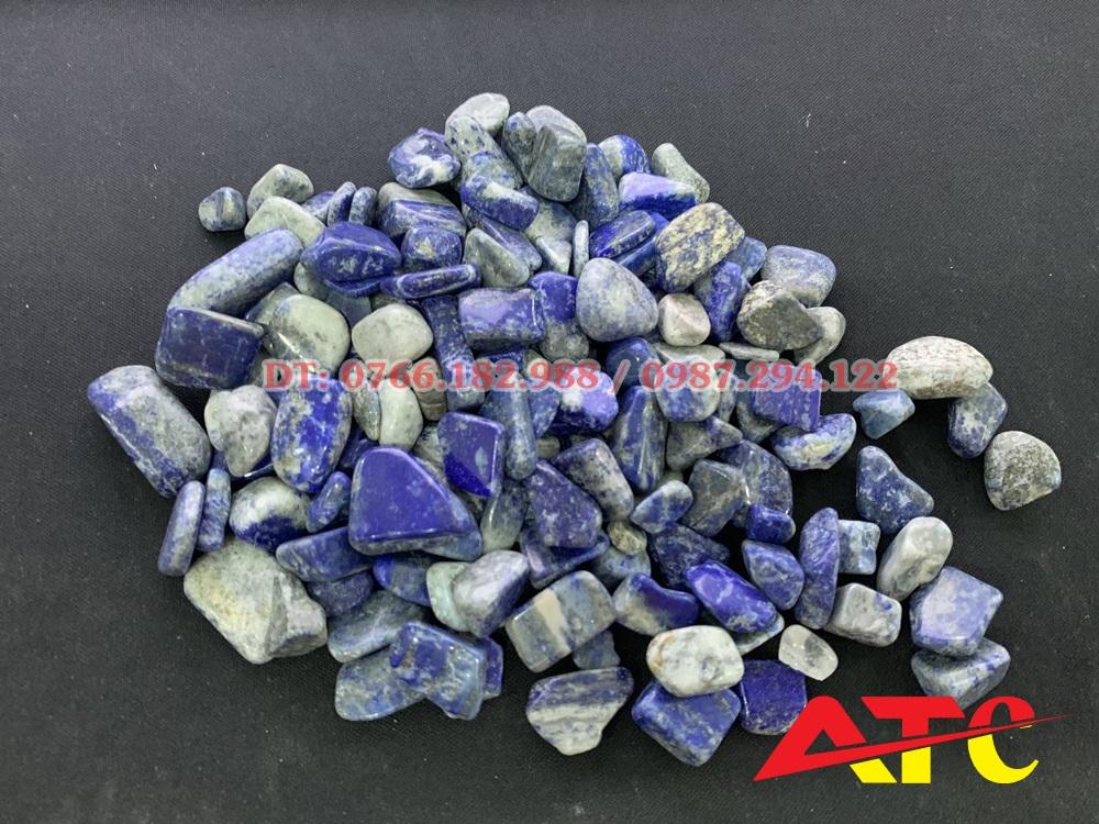 đá thạch anh vụn xanh dương