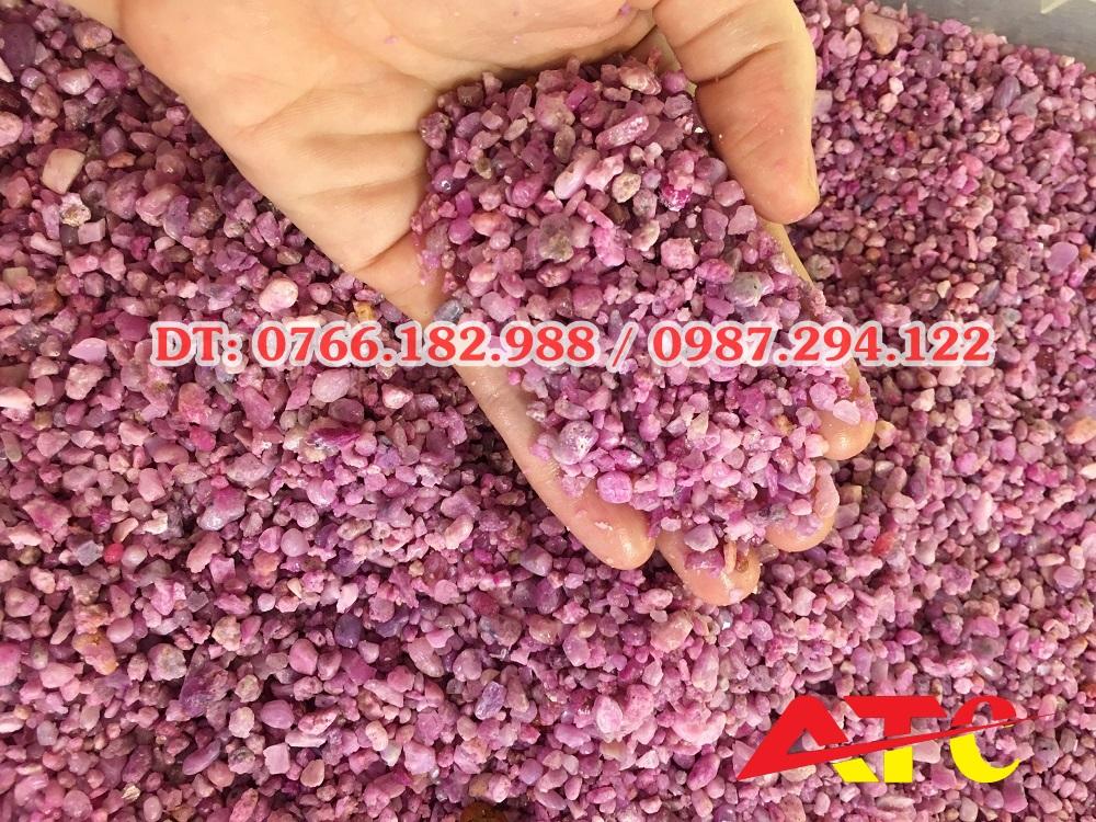 tinh thể đá ruby thô